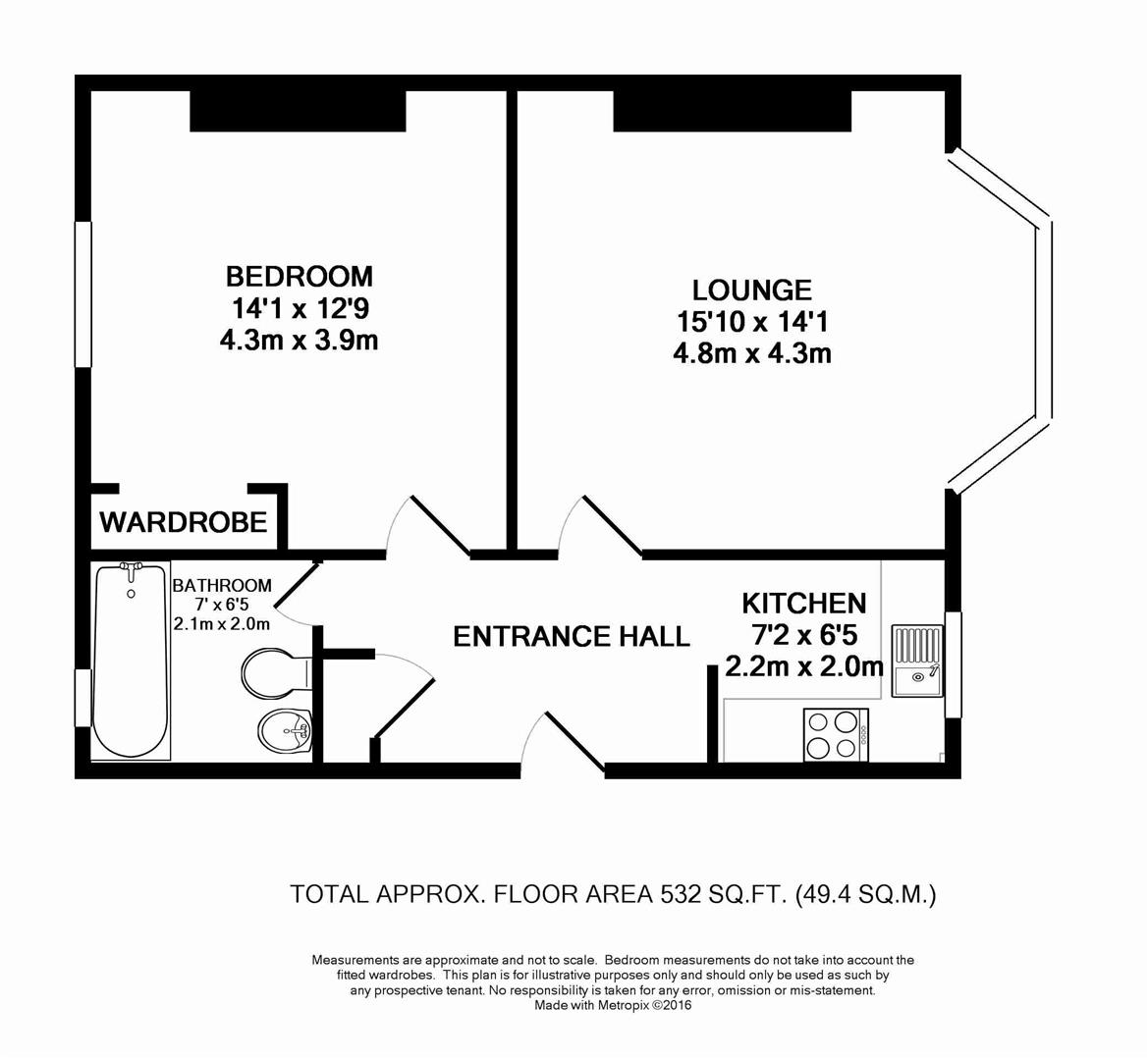 Floorplan for Bedford Road, Horsham